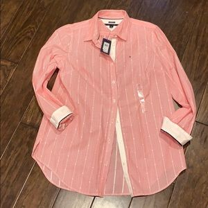 Tommy Hilfiger Pink Button Down Shirt